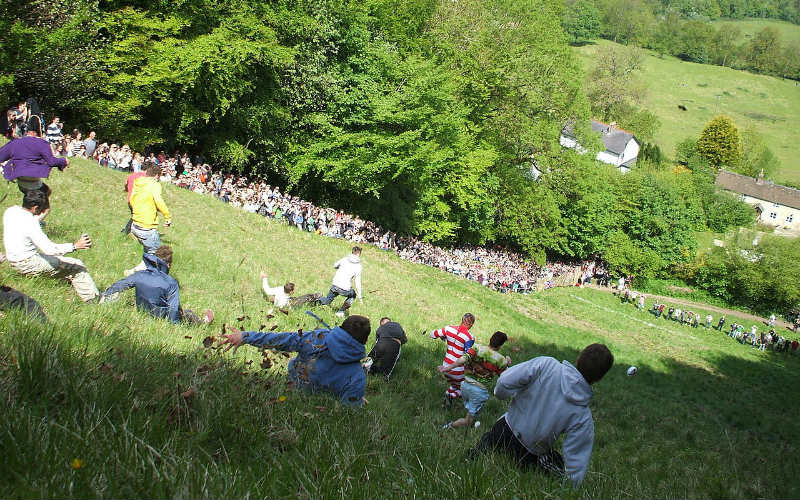 Cooper's Hill Cheese Rolling, Cooper's Hill, England