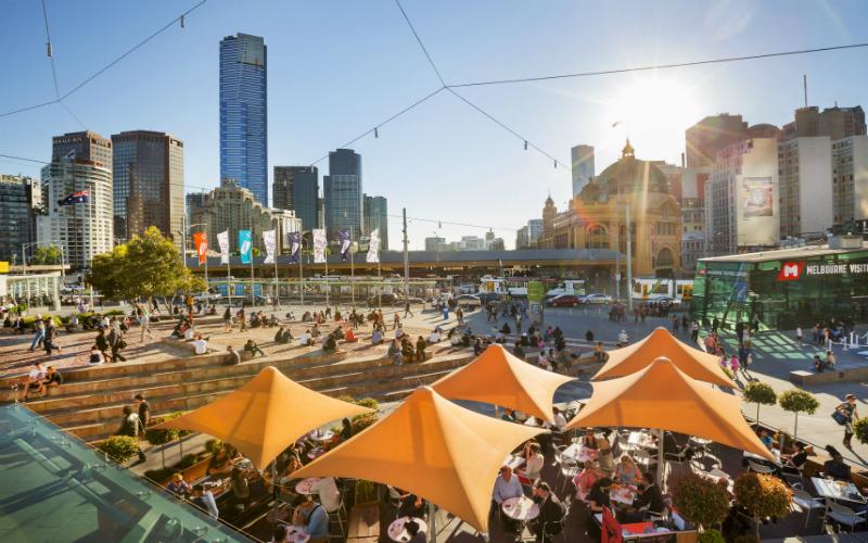 Federation Square, Melbourne, Victoria.