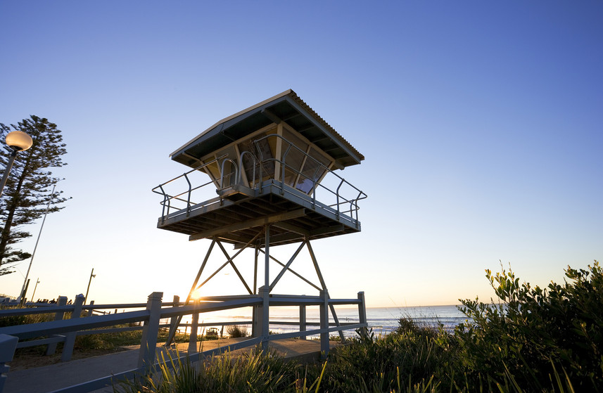 Lifeguard tower at Cronulla Beach, Sydney