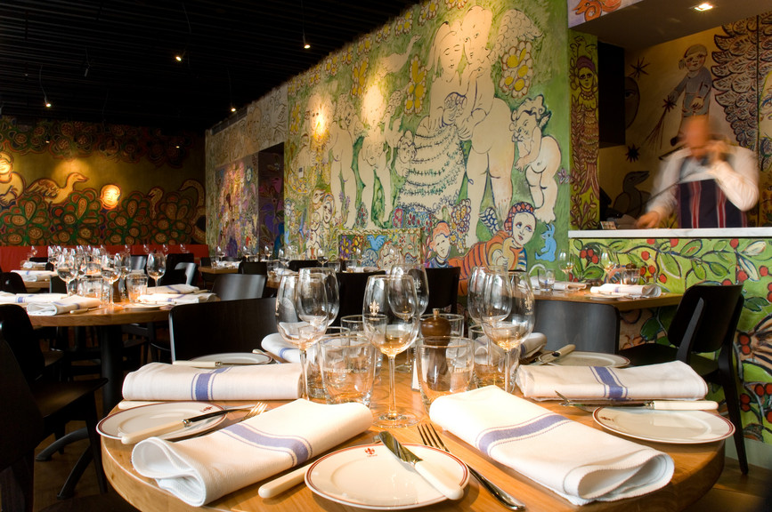 Mirka restaurant at Tolarno Hotel, Melbourne