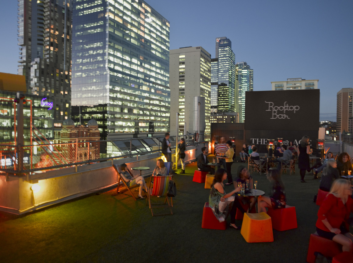 Rooftop Bar & Cinema at Curtin House, Melbourne