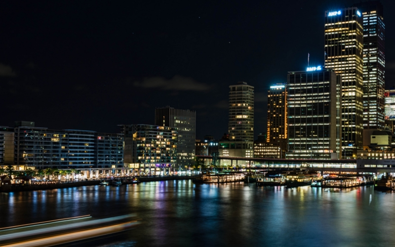 sydney circular quay night