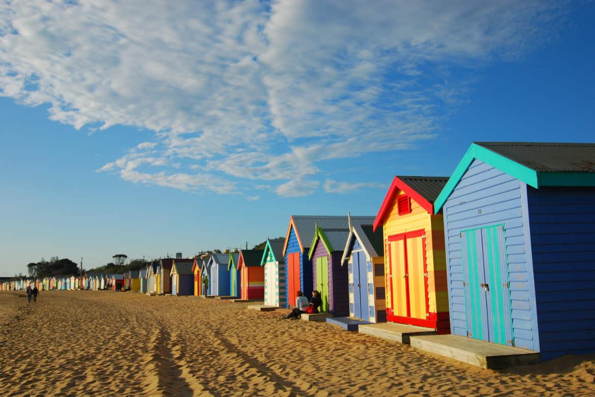 Brighton Bathing Boxes, Dendy Street Beach, Australia