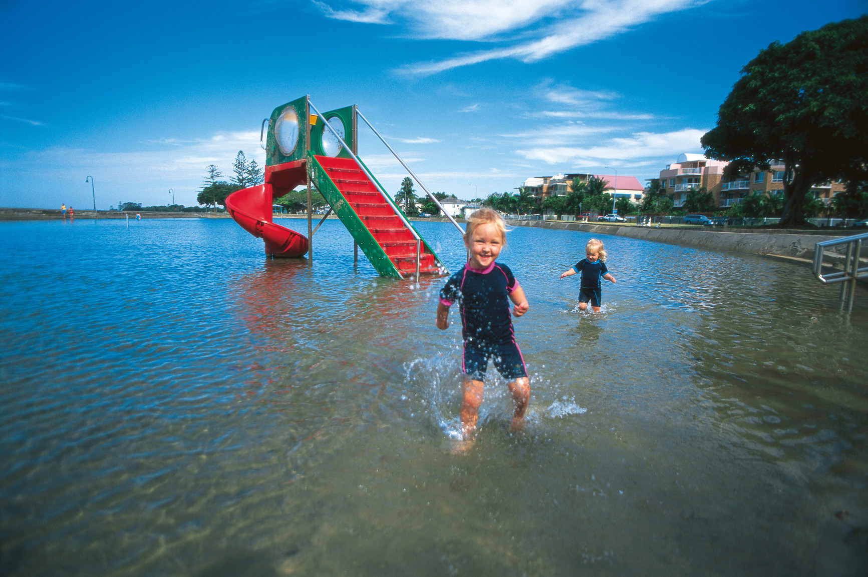 Wynnum wading pool in Brisbane