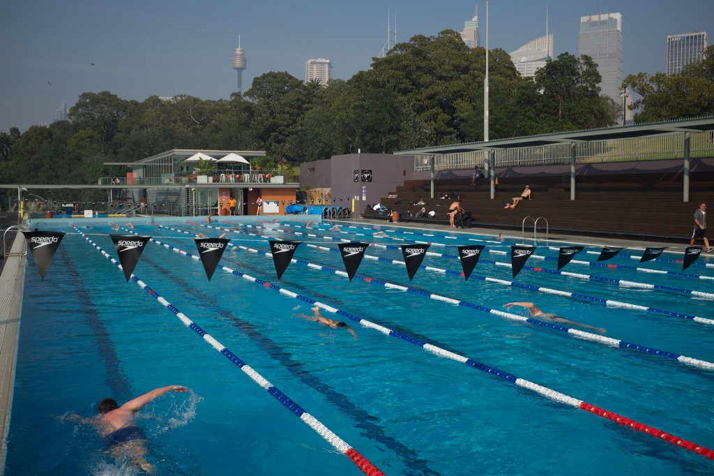 Andrew Boy Charlton Pool in The Domain, Sydney CBD