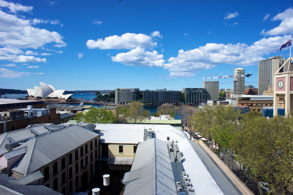View from the Glenmore Hotel in The Rocks, Sydney