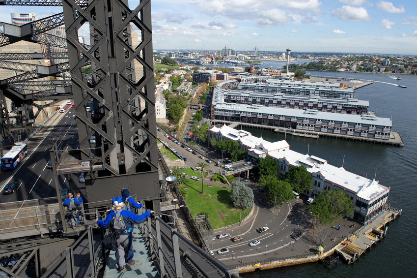 BridgeClimb on the Sydney Harbour Bridge. Source: James Horan