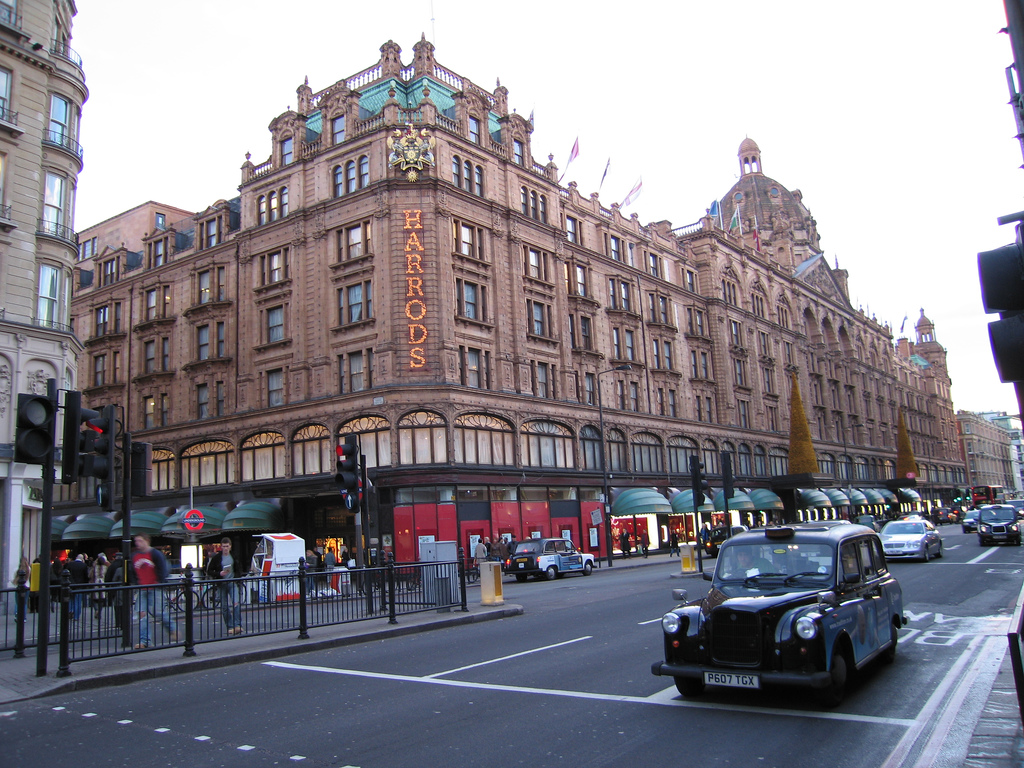 Harrods in Knightsbridge, London