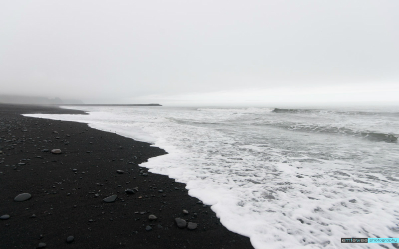 Black sand beaches, Vik, Iceland.