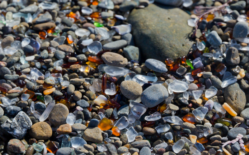 Glass Beach, Fort Bragg, California, United States of America.