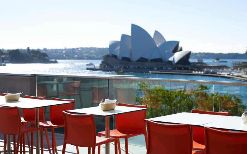 MCA Cafe, Museum of Contemporary Art, The Rocks, Sydney.