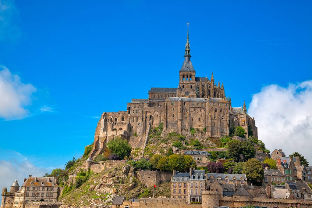 mont saint michel castle normandy france