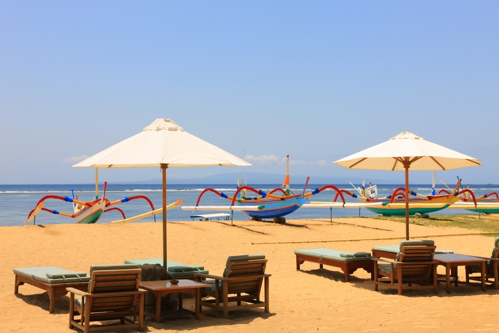Sanur Beach in Sanur, South Bali