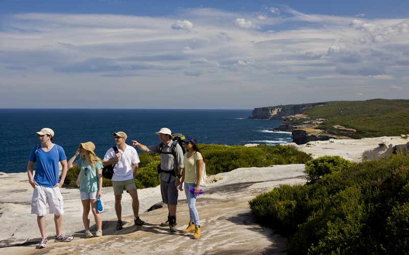 Royal Coast Walk in Bundeena, New South Wales.