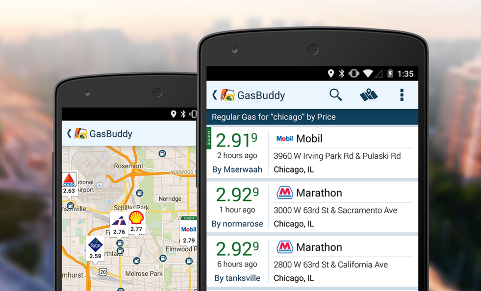 gas buddy app for travelling