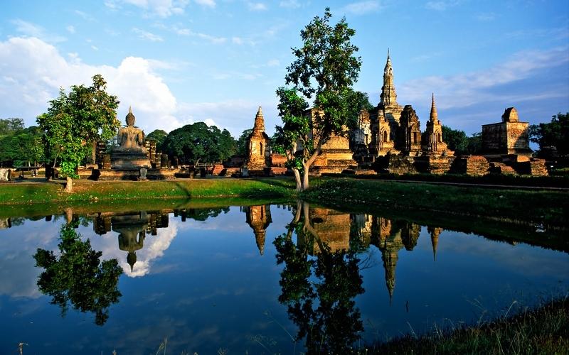 Sukhothai Historical Park in north Thailand