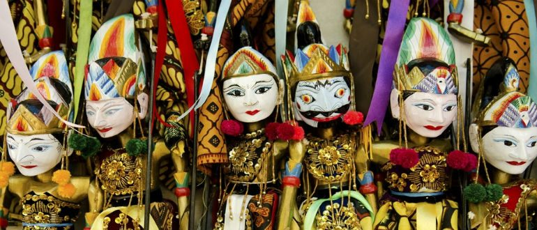 Traditional Indonesian puppets, Bali, Indonesia