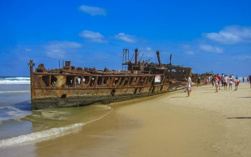 maheno shipwreck fraser island queensland