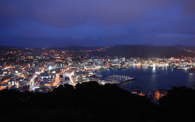 wellington dusk mount victoria new zealand