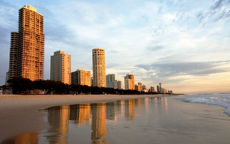 Skyline of the Gold Coast, Queensland.