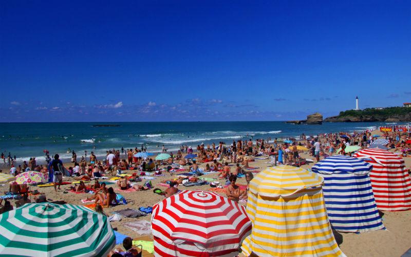La Grand Plage de Biarritz, France