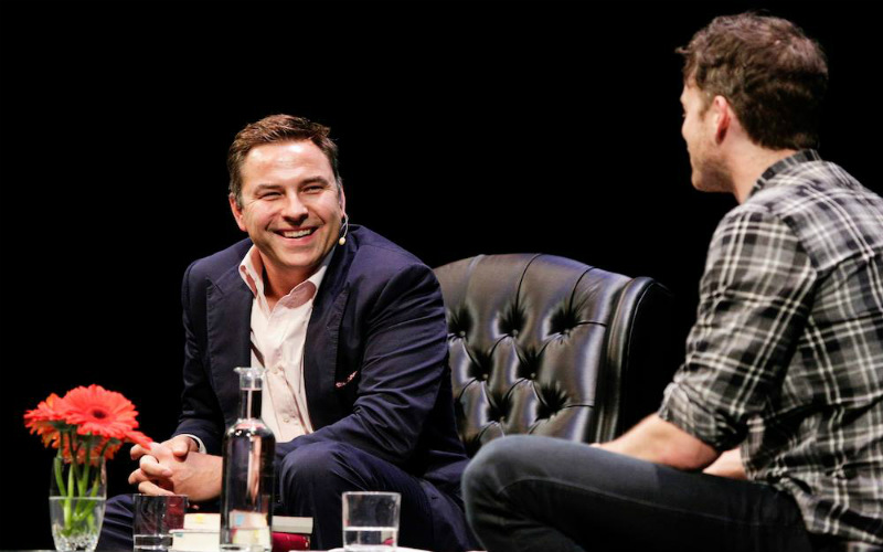 David Walliams and Hamish Blake at Sydney Writers' Festival in 2015.