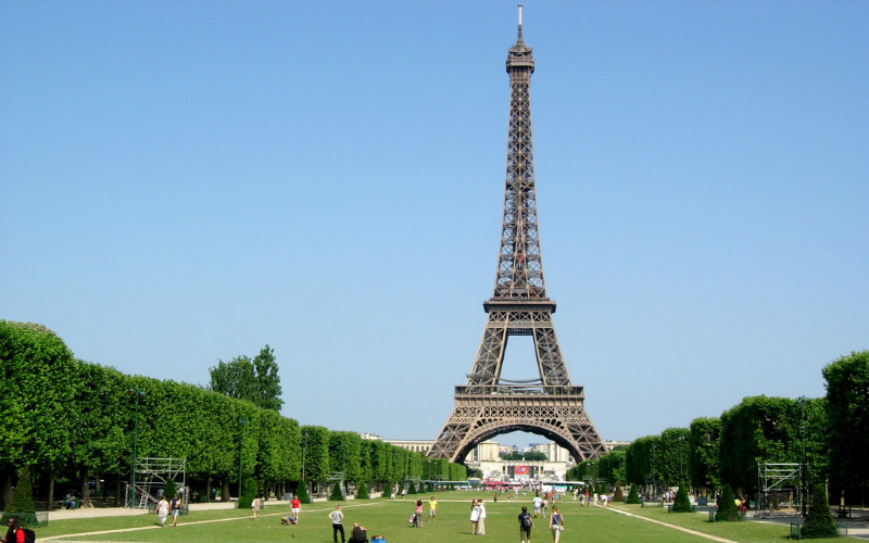 The Champ de Mars and the Eiffel Tower, Paris, France
