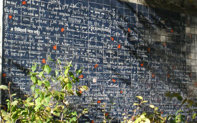 Le mur des je t'aime, Paris, France
