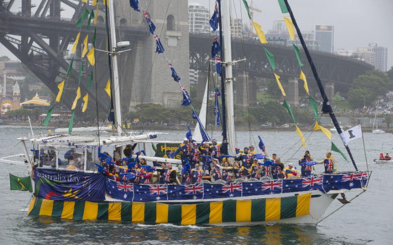 Australia Day Harbour Parade, Sydney Harbour