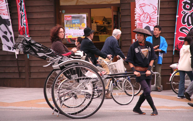 A traditional rickshaw ride, Tokyo, Japan