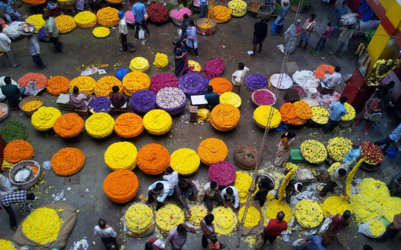 KR Flower Market, Bangalore