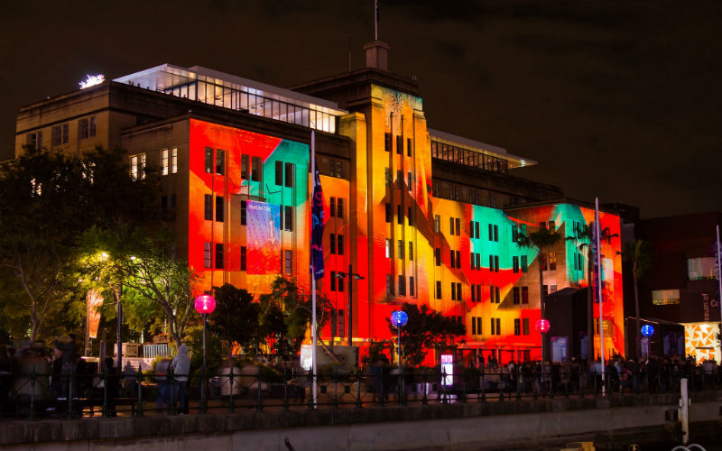 Museum of Contemporary Art, Sydney during Vivid Sydney 2012