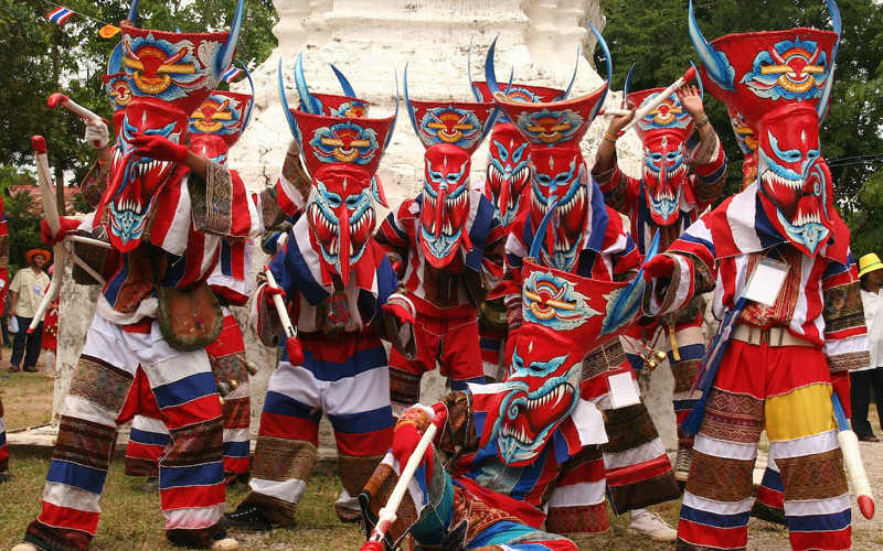 Phi Ta Khon, Thailand