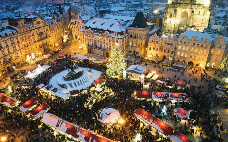 Christmas market in Prague, Czech Republic
