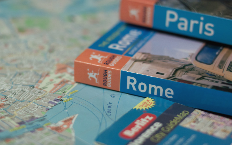 travel books map