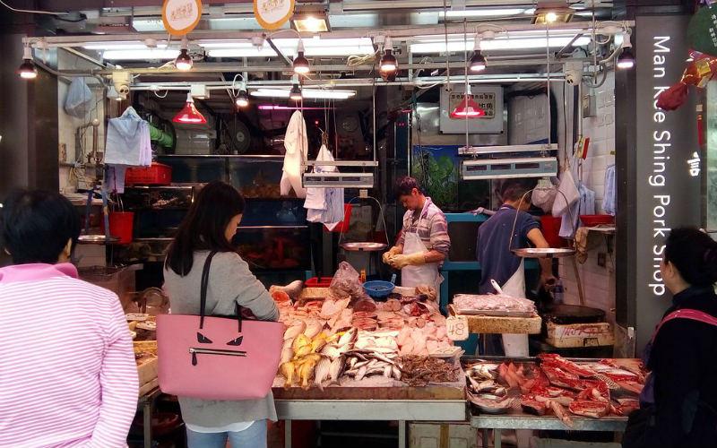 Graham Street Wet Market, Hong Kong