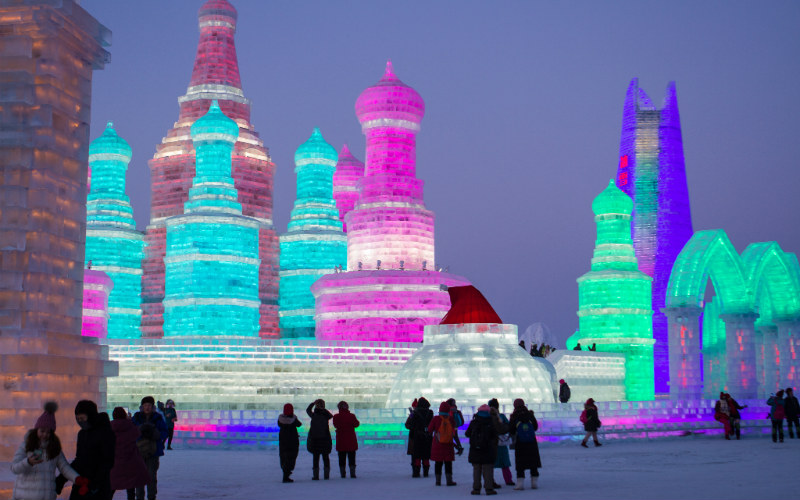 Harbin International Ice and Snow Sculpture Festival, Harbin. China