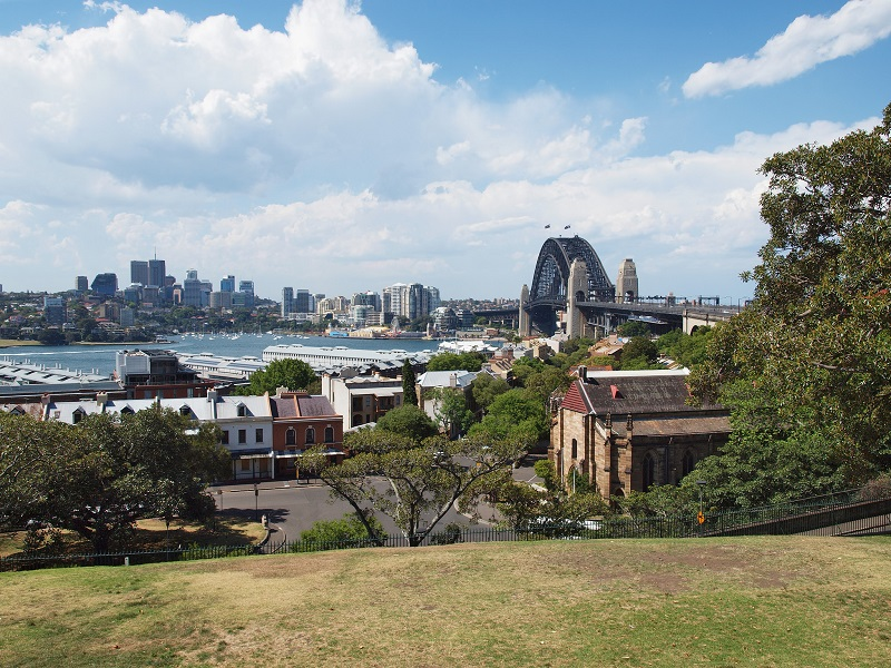 The view of Sydney Harbour from Observatory Hill