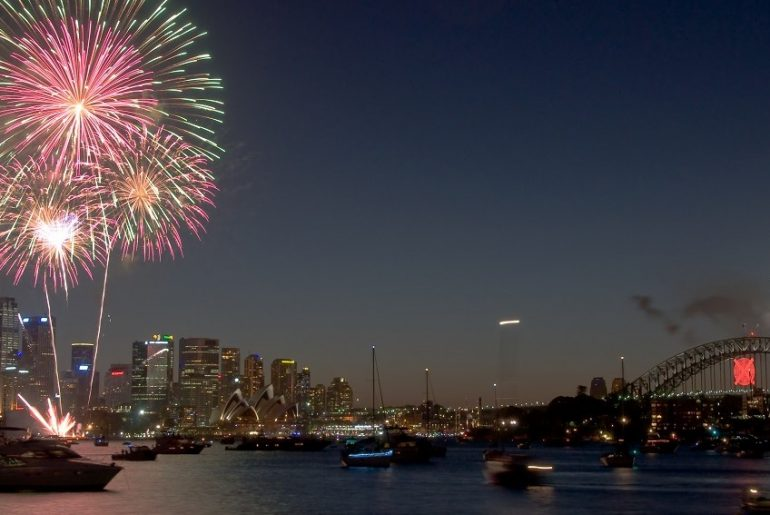Firework on New Years Eve in Sydney