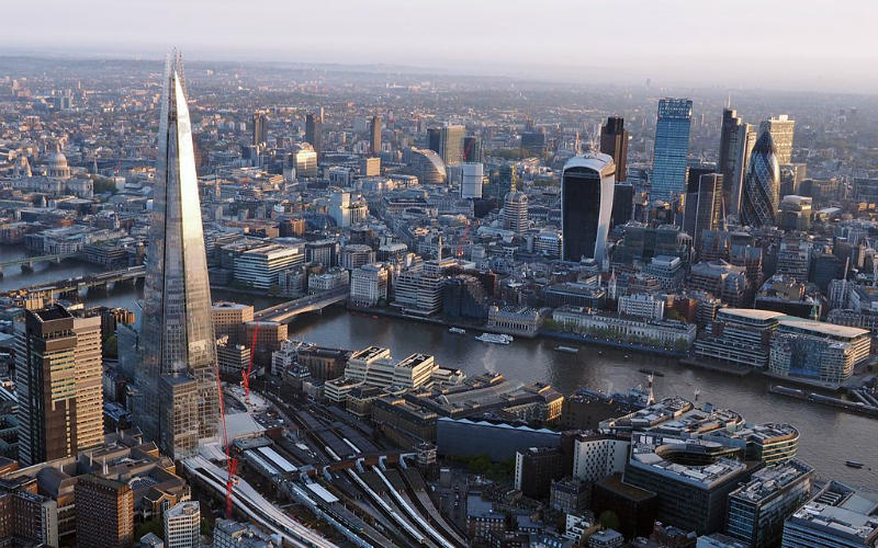 London, England from above