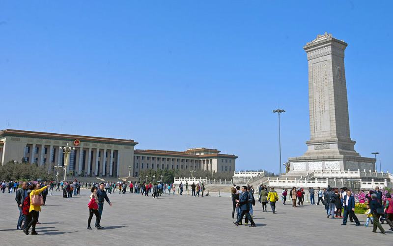 Great Hall of the People and the Monument to the People's Heroes, Tienanmen Square, China