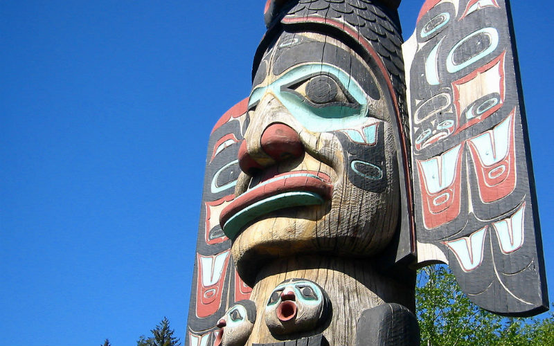 Totem pole at Ketchikan, Alaska