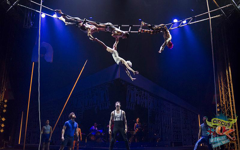 Circus Oz trapeze Rob Blackburn