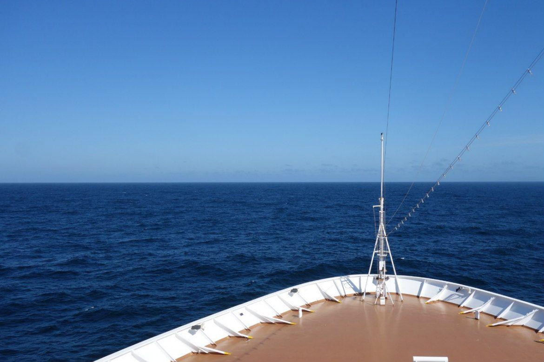 Cruise ship ocean deck