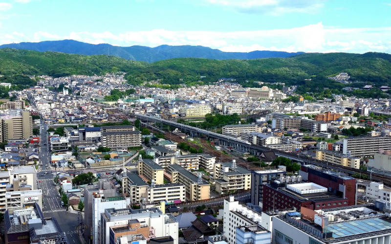 View from Kyoto Tower, Kyoto, Japan