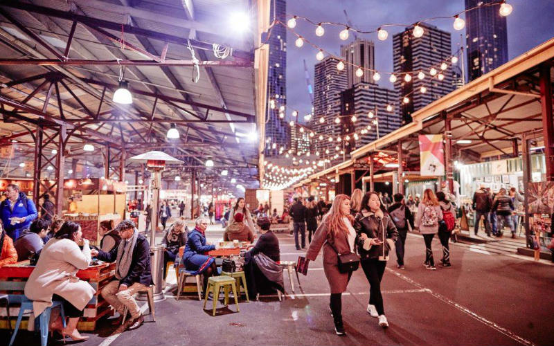 Queen Victoria Winter Night Market, Melbourne
