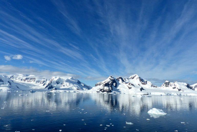 Antarctica icebergs water ice