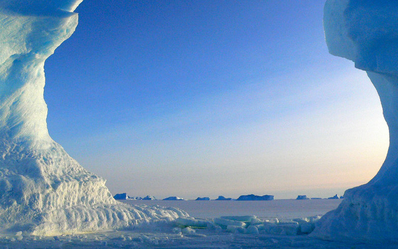 Antarctica ice tundra