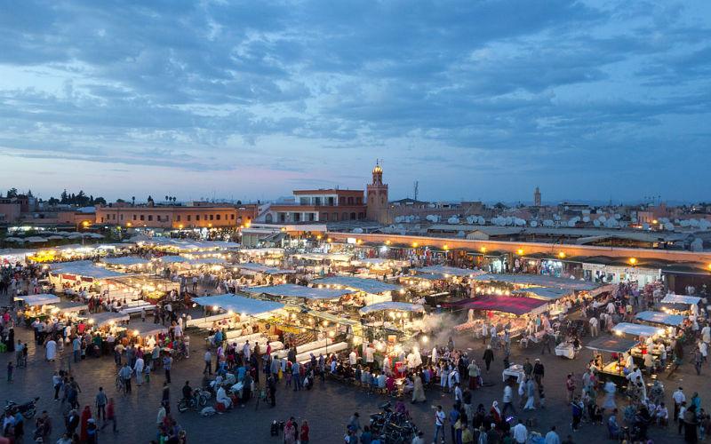 Djemaa el Fnaa, Marrkech, Morocco