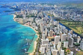 Honolulu, Hawaii from above